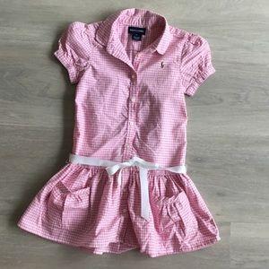Ralph Lauren Girls size 5 pony logo dress